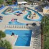 A huge lazy river and water park allows for hours and hours of fun for the whole family.